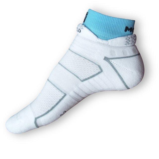 Běžecké ponožky Moira bílomodré