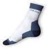 Trekingové ponožky bílomodré